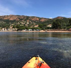 Kayak devant le camping